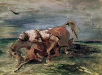 Mazeppa von Ferdinand Victor Eugèn  Delacroix