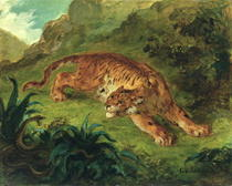 Tiger and Snake by Ferdinand Victor Eugèn  Delacroix