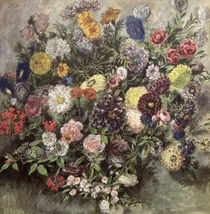 Bouquet of Flowers by Ferdinand Victor Eugèn  Delacroix