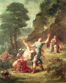 Orpheus and Eurydice, Spring from a series of the Four Seasons by Ferdinand Victor Eugèn  Delacroix