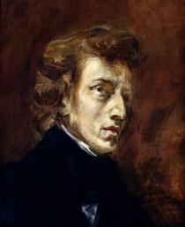 Frederic Chopin by Ferdinand Victor Eugèn  Delacroix