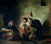 Jewish Musicians in Mogador by Ferdinand Victor Eugèn  Delacroix