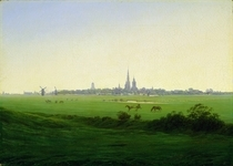 Meadows near Greifswald by Caspar David Friedrich