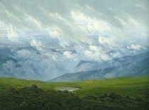 Drifting Clouds  by Caspar David Friedrich