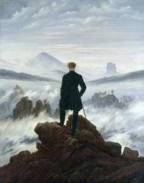 Der Wanderer über dem Nebelmeer  von Caspar David Friedrich