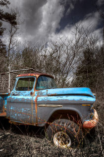 Blue Chevy Truck von Debra and Dave Vanderlaan