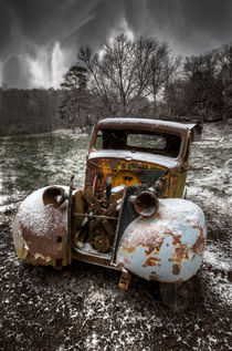 Old Truck in the Smokies by Debra and Dave Vanderlaan
