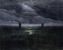 Meeresufer im Mondschein von Caspar David Friedrich
