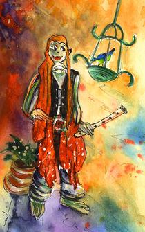 Musician in Crocodile Park in Gran Canaria 02 by Miki de Goodaboom