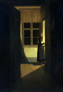 The Woman with the Candlestick by Caspar David Friedrich