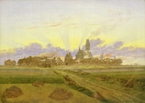 Dawn at Neubrandenburg by Caspar David Friedrich