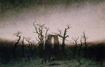 Abbey in the Oakwood by Caspar David Friedrich