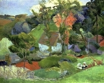 Landscape at Pont Aven by Paul Gauguin
