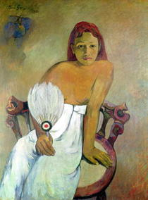 Girl with fan by Paul Gauguin