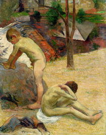 Breton Boys Bathing by Paul Gauguin