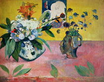 Flowers and a Japanese Print von Paul Gauguin