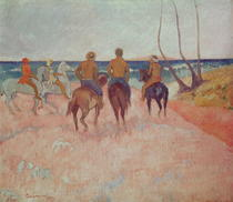Horseman on the Beach (Hiva Hoa) by Paul Gauguin
