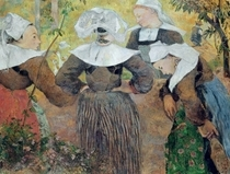 Four Breton Women by Paul Gauguin