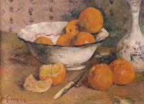 Still life with Oranges by Paul Gauguin