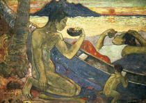 A Canoe (Tahitian Family) by Paul Gauguin