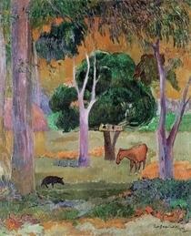 Dominikanische Landschaft von Paul Gauguin