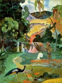 Matamoe or, Landscape with Peacocks by Paul Gauguin