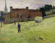 Haymaking in Brittany by Paul Gauguin