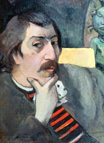 Portrait of the Artist with the Idol by Paul Gauguin