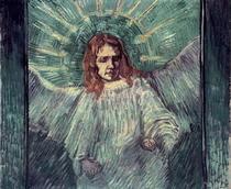 Engelskopf, nach Rembrandt von Vincent Van Gogh