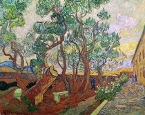 The Garden of St. Paul`s Hospital at St. Remy by Vincent Van Gogh