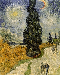 'Road with Cypresses' by Vincent Van Gogh