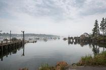 Morning Fog At Bass Harbor by John Bailey