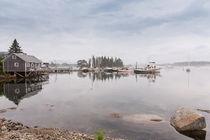 Bass Harbor In The Morning Fog von John Bailey