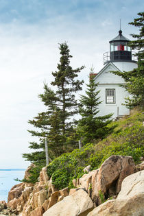 Bass Harbor Light Station Overlooking the Bay by John Bailey
