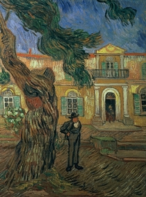 St. Paul`s Hospital, St Remy by Vincent Van Gogh