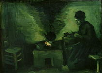 Bäuerin am Herd von Vincent Van Gogh
