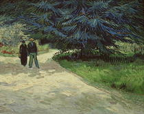 Couple in the Park, Arles by Vincent Van Gogh