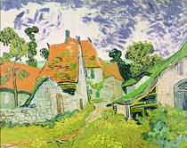Street in Auvers-sur-Oise by Vincent Van Gogh