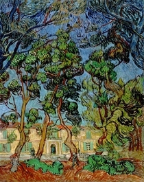 Trees in the Garden of St. Paul`s Hospital by Vincent Van Gogh