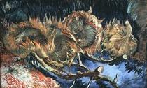 Vier verblühte Sonnenblumen von Vincent Van Gogh