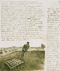 Mann mit Egge von Vincent Van Gogh