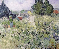 Mademoiselle Gachet in her garden at Auvers-sur-Oise by Vincent Van Gogh