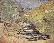 A Road in St. Remy with Female Figures by Vincent Van Gogh