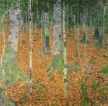 The Birch Wood by Gustav Klimt