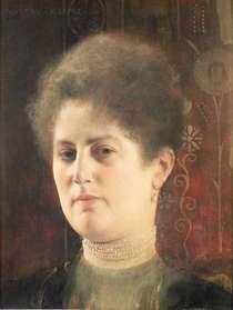 Portrait einer Frau von Gustav Klimt
