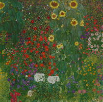 Farm Garden with Flowers (Brewery Garden at Litzlberg on the Att by Gustav Klimt