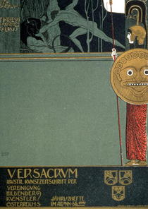 Cover of `Ver Sacrum`, the journal of the Viennese Secession, de von Gustav Klimt
