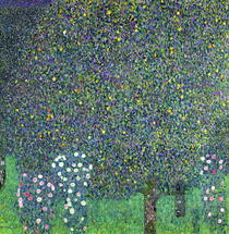 Roses under the Trees by Gustav Klimt