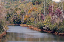 Hiwassee River In Autumn by John Bailey