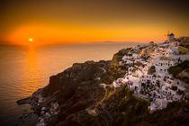 Sonnenuntergang auf Santorin von Björn Kindler